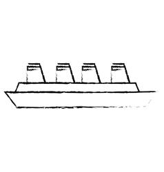 Cruise ship travel maritime sketch vector