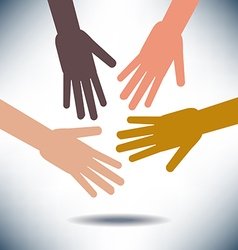 Diversity Image with Hands vector image vector image