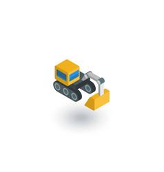 excavator isometric flat icon 3d vector image