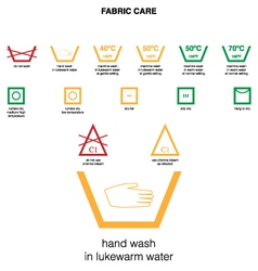 fabric care vector image vector image