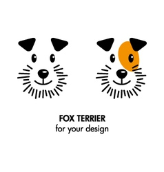 Fox Terrier dog icon vector image vector image