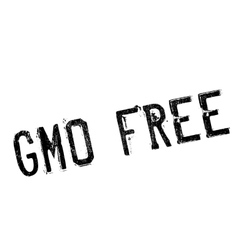 Gmo free stamp vector