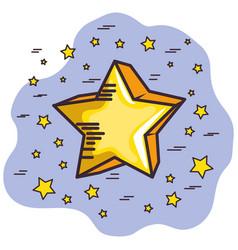 Golden star design vector