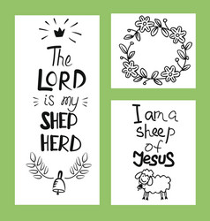 hand lettering the lord is my shepherd vector image