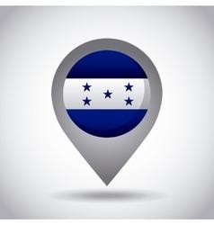 Honduras flag pin vector