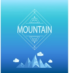 Mountain emblem vector image vector image