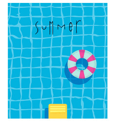Poster summer pool vector