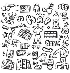 raphip hop - doodles vector image vector image