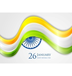Smooth waves background Colors of India vector image vector image