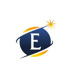 swoosh logo letter e vector image vector image