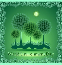 world green environment day background vector image vector image