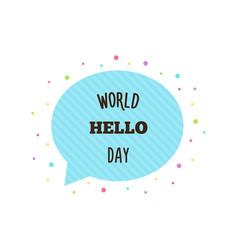 World hello day vector