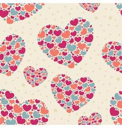 Cute Valentine love seamless pattern vector image