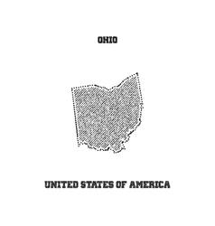 Label with map of ohio vector