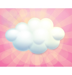 A blank signage in a cloud form vector