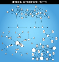 Network infographic elements vector