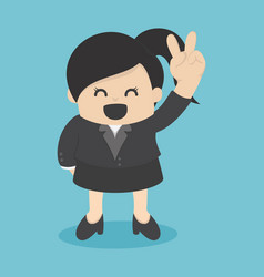 Business woman confident two-finger lift vector