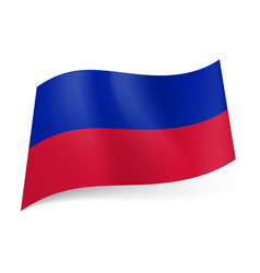 National flag of haiti blue and red horizontal vector
