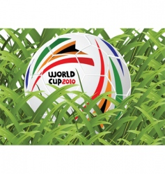 world cup soccer ball vector image