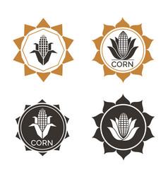 Corn label vector