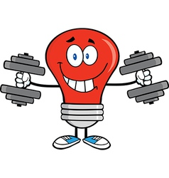Light bulb with gym muscles vector
