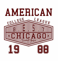 American college league vector