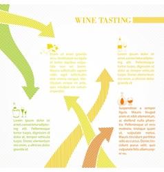 Vine infographic design vector image