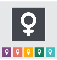 Female gender sign vector