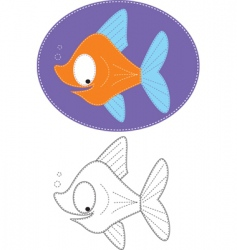 Fish sew vector