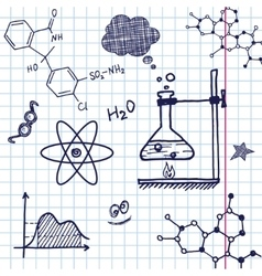Hand draw chemistry elements vector