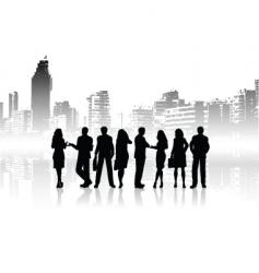 city people vector image