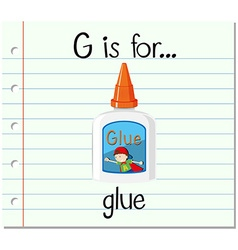 Flashcard letter g is for glue vector