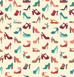 Colorful texture of fashion female shoes vector