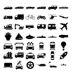 Transport icons concept for vector