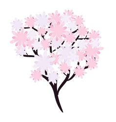 Flowering tree vector image