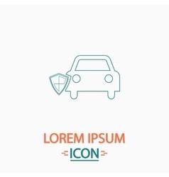 Protect car computer symbol vector