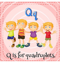 A letter q for quadruplets vector