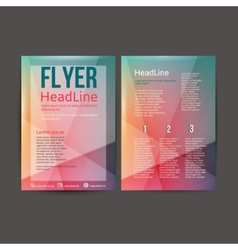 Abstract Brochure Flyer design vector image vector image