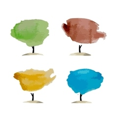 Abstract watercolor trees place for your text vector
