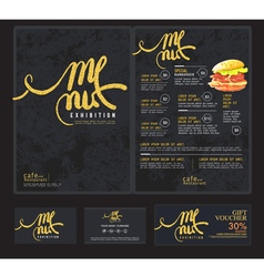 Art menu cafe vector image vector image