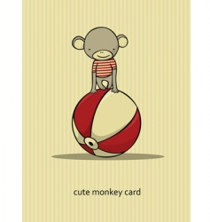 cartoon monkey vector image