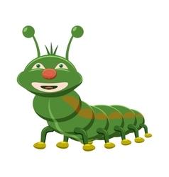 Caterpillar icon cartoon style vector