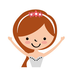 cute wife avatar character vector image