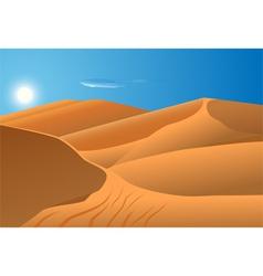 desert dunes vector image vector image