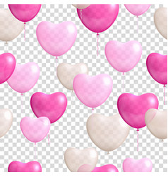 heart shaped balloons transparent background vector image vector image