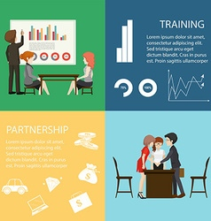 Infographic with business people vector
