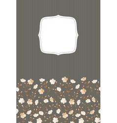 Invitation gray background vector image vector image