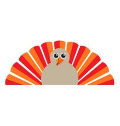 Isolated turkey icon vector