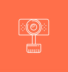isolated webcam icon web camera line icon for vector image