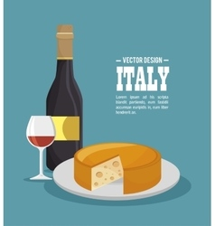 italian food tradition isolated icon vector image